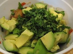 Guacamole cilantro avo in bowl
