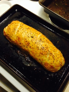 Bake in oven for about 25-30 minutes at 420 degrees.